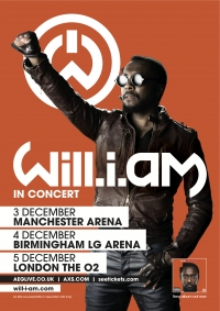 COMPETITION TIME - 2 Pairs of Tickets To Give Away for Will.i.am at Manchester Arena On 3rd December